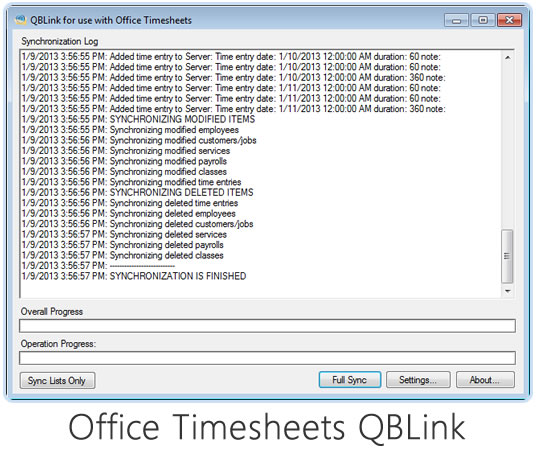Time Entries in Office Timesheets stay in Sync with QuickBooks